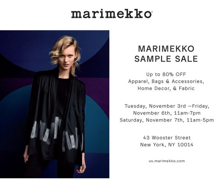 Marimekko Sample Sale