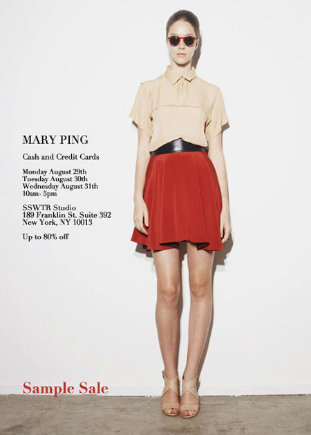 Mary Ping Sample Sale