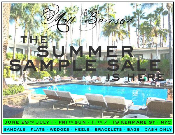Matt Berson Summer Sample Sale