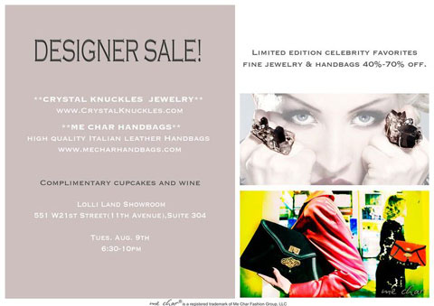 MeChar Handbags Sample Sale
