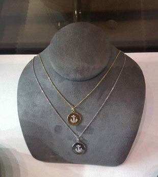 Michael C. Fina necklace with diamond encrusted anchor ($339, orig. $565)