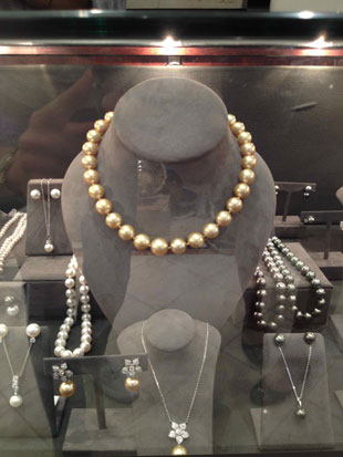 Michael C. Fina Tahitian and golden pearls, also on sale for 40% off