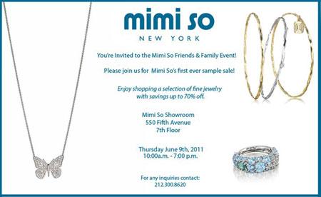 Mimi So Jewelry Sample Sale