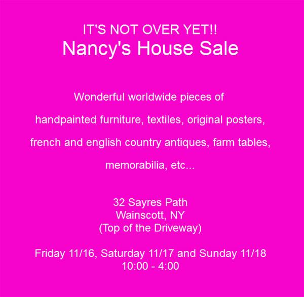 Nancy's House Sale