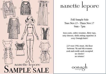 Nanette Lepore Fall Sample Sale