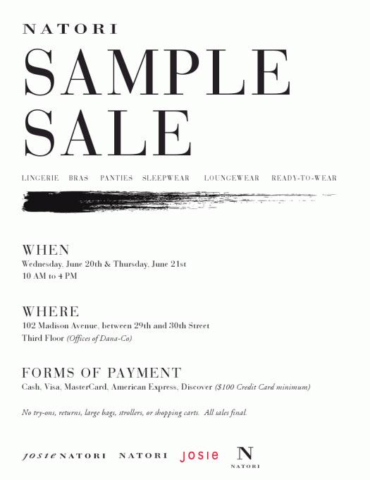 Natori Sample Sale