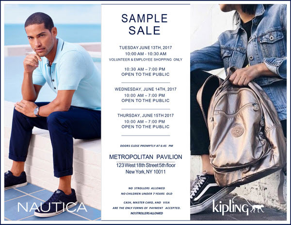 Nautica and Kipling Sample Sale