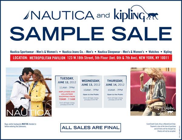 Nautica & Kipling Sample Sale