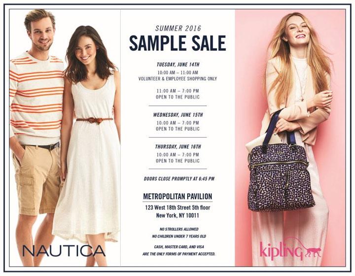 Nautica / Kipling Summer 2016 Sample Sale