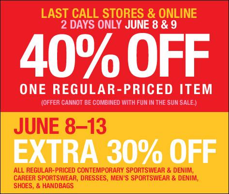 40% Off at Neiman Marcus Last Call: 6/8 - 6/9