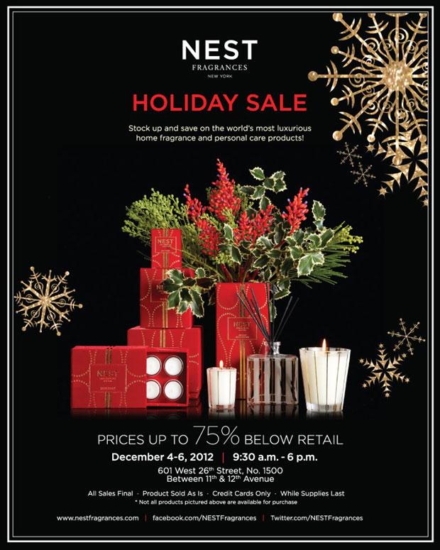 NEST Fragrances & Home New York Holiday Sample Sale ...