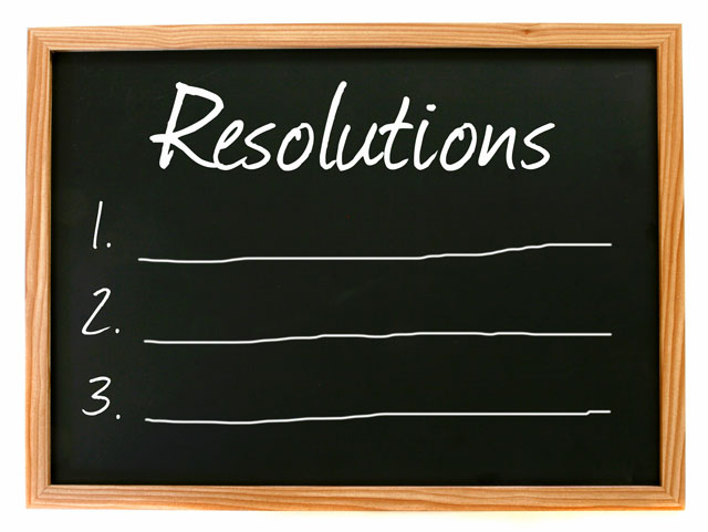 What is your one resolution you really want to keep about?
