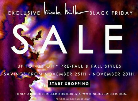 Nicole Miller Black Friday Sale