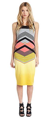 Nicole Miller Suspension Midi Dress