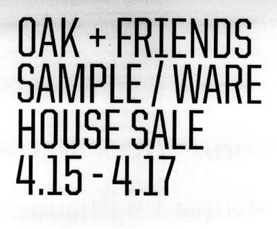 Oak + Friends Sample Sale