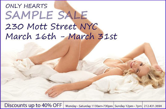 Only Hearts Sample Sale