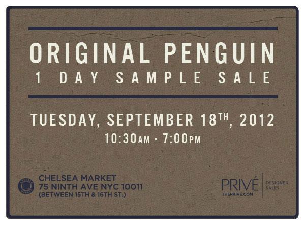 Original Penguin Sample Sale