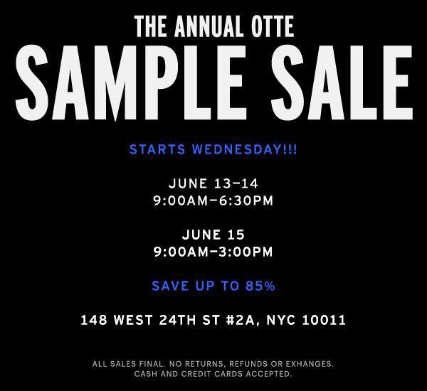 Otte Sample Sale