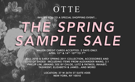 Otte Spring Sample Sale