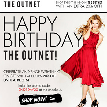 Additional 20% off at The Outnet