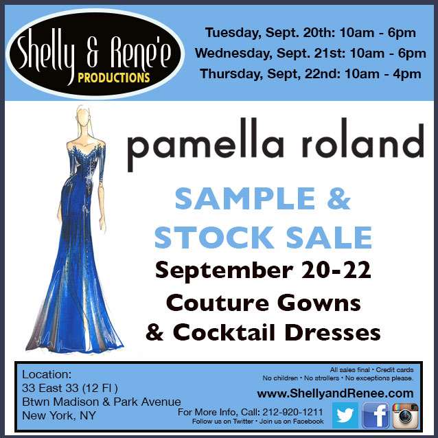 Pamella Roland Couture Eveningwear Sample Sale