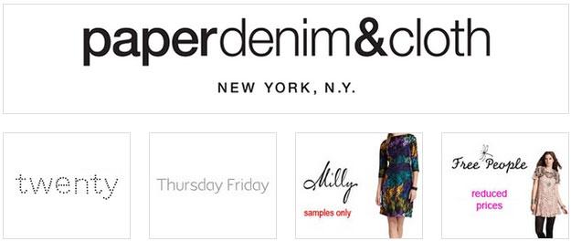 paperdenim & cloth, Twenty and more Sample Sale