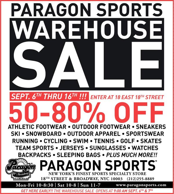 The latest Tweets from Paragon Sports (@paragonsports). New York's Finest Sports Specialty Store Since 18th & Broadway, NYC.