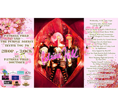 Shop and Rock at Patricia Field Trunk Show 4/20
