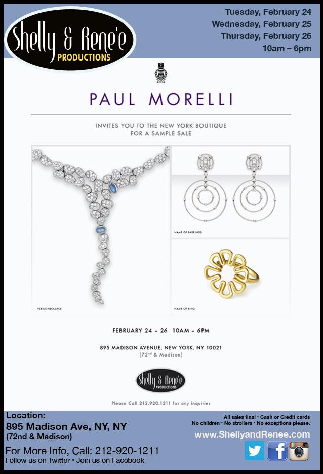 Paul Morelli Sample Sale