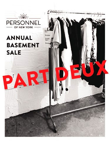 Personnel of New York Basement Sale