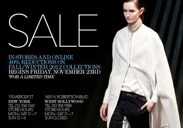 3.1 Phillip Lim Fall/Winter Sale