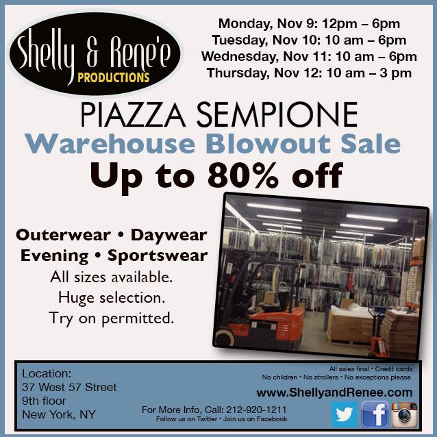 Piazza Sempione Warehouse Blowout Sale