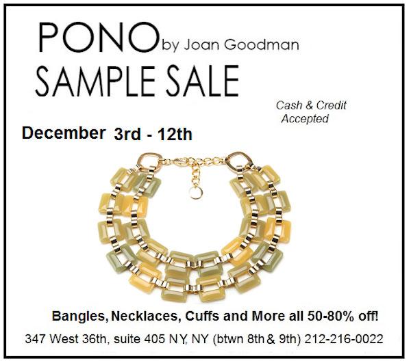 PONO by Joan Goodman Holiday Sample Sale