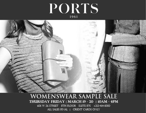 Ports 1961 Sample Sale