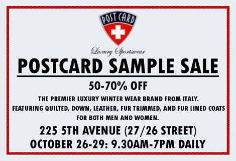 Post Card Sample Sale