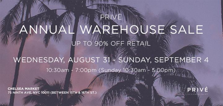 Prive Annual Warehouse Sale