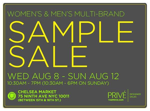 Prive Multi-brand Sample Sale