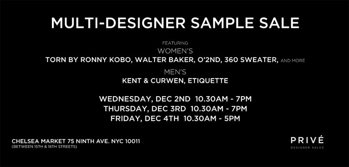 Prive Multi-Designer Sample Sale