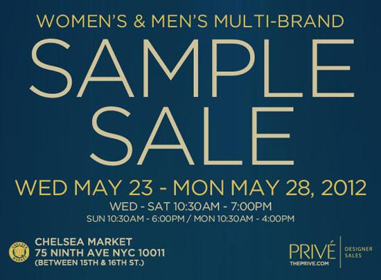 Prive Multi-brand Sample Sale