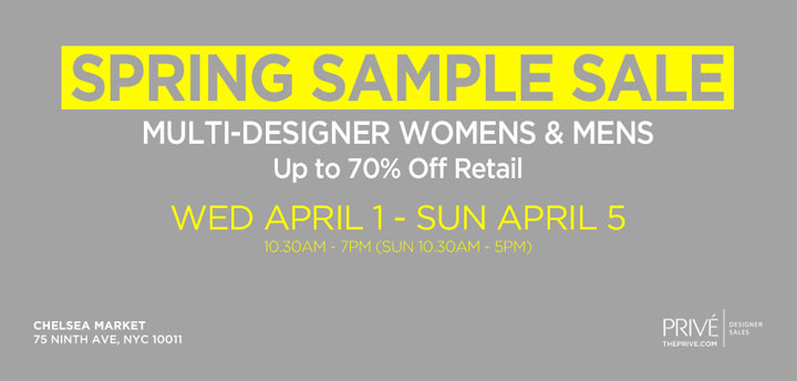 Prive Spring Sample Sale