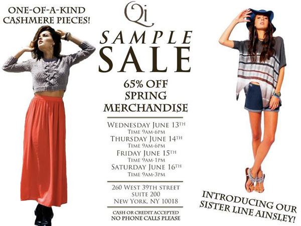 Qi & Ainsley Sample Sale
