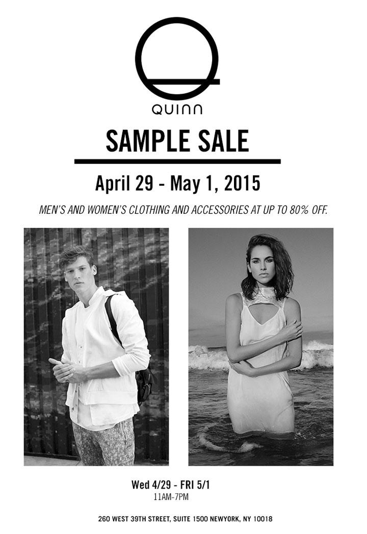 Quinn Spring 2015 Sample Sale