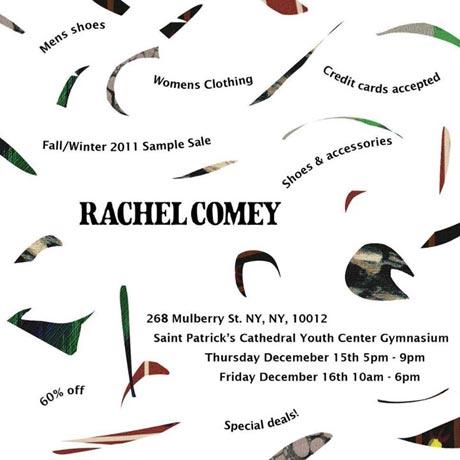 New York Sample Sales - Rachel Comey Sample Sale