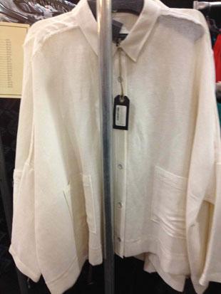 Rag & Bone Raw Edge Sung Shirt in Ivory ($115)