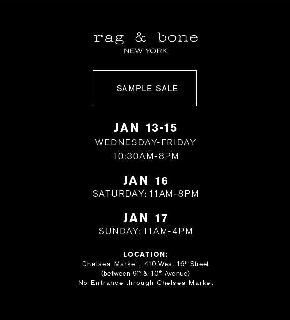 Rag & Bone Sample Sale