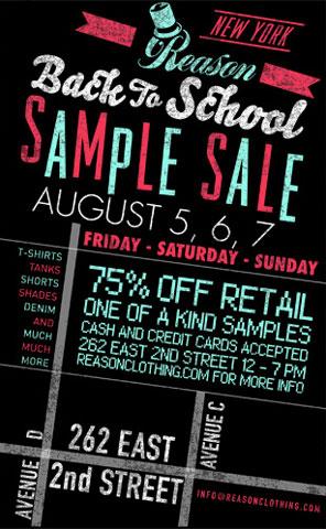Reason Sample Sale