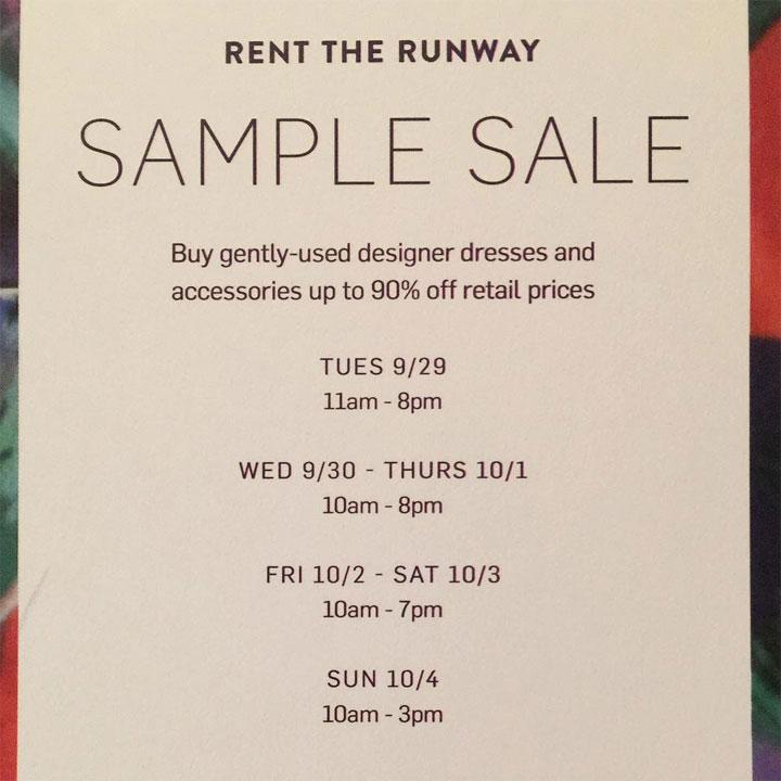 Rent the Runway Sample Sale