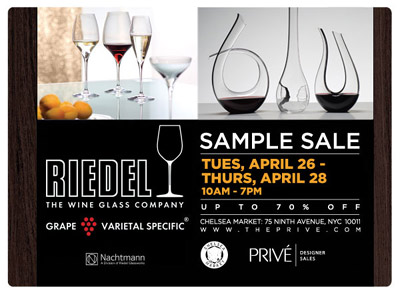 Riedel Sample Sale