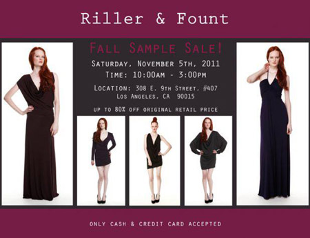 Riller & Fount Fall Sample Sale