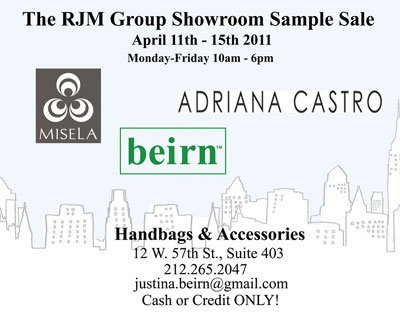 Beirn, Adriana Castro & Misela Sample Sale